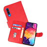 Bookstyle Wallet Cases Hoesje Samsung Galaxy A50 Rood