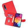 Samsung Galaxy A50 Hoesje Kaarthouder Book Case Telefoonhoesje Rood