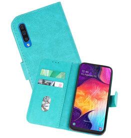 Samsung Galaxy A50 Hoesje Kaarthouder Book Case Telefoonhoesje Groen