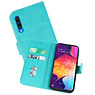 Bookstyle Wallet Cases Hoesje Samsung Galaxy A50 Groen