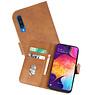 Samsung Galaxy A50 Hoesje Kaarthouder Book Case Telefoonhoesje Bruin