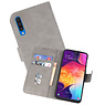 Bookstyle Wallet Cases Hoesje Samsung Galaxy A50 Grijs