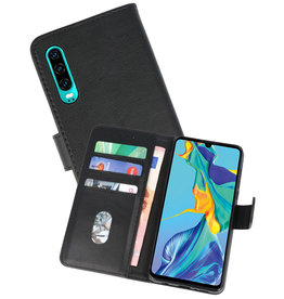 Bookstyle Wallet Cases Hoesje Huawei P30 Zwart