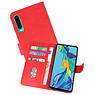 Huawei P30 Hoesje Kaarthouder Book Case Telefoonhoesje Rood