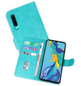 Huawei P30 Hoesje Kaarthouder Book Case Telefoonhoesje Groen