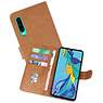 Bookstyle Wallet Cases Hoesje Huawei P30 Bruin