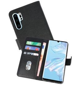 Huawei P30 Pro Hoesje Kaarthouder Book Case Telefoonhoesje Zwart