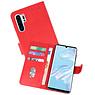 Huawei P30 Pro Hoesje Kaarthouder Book Case Telefoonhoesje Rood
