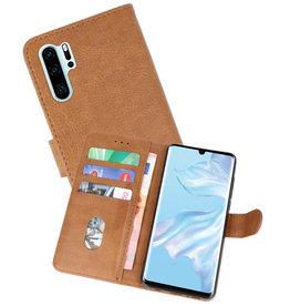 Huawei P30 Pro Hoesje Kaarthouder Book Case Telefoonhoesje Bruin