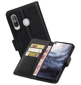 Echt Lederen Hoesje Wallet Case Samsung Galaxy A8s Zwart