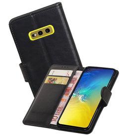 Zakelijke Bookstyle Hoesje Samsung Galaxy S10e Zwart