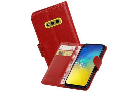 Zakelijke Bookstyle Hoesje voor Samsung Galaxy S10e Rood