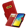 Zakelijke Bookstyle Hoesje Samsung Galaxy S10e Rood