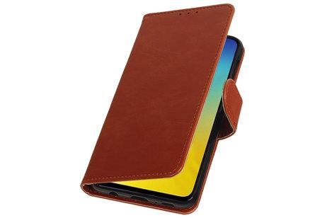 Zakelijke Bookstyle Hoesje voor Samsung Galaxy S10e Bruin