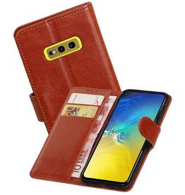 Zakelijke Bookstyle Hoesje Samsung Galaxy S10e Bruin