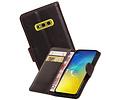 Zakelijke Bookstyle Hoesje voor Samsung Galaxy S10e Mocca