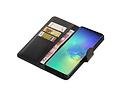 Zakelijke Bookstyle Hoesje voor Samsung Galaxy S10 Plus Zwart