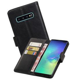 Zakelijke Bookstyle Hoesje Samsung Galaxy S10 Plus Zwart