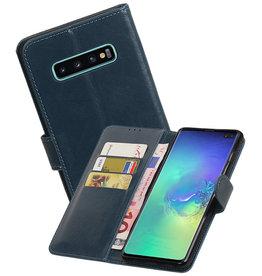 Zakelijke Bookstyle Hoesje Samsung Galaxy S10 Plus Blauw