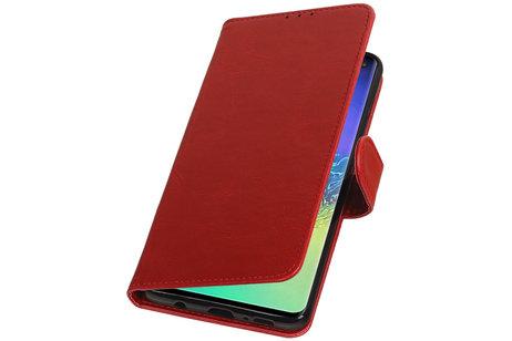 Zakelijke Bookstyle Hoesje voor Samsung Galaxy S10 Plus Rood