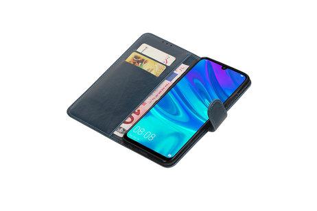 Zakelijke Bookstyle Hoesje voor Huawei Honor 10 Lite Blauw