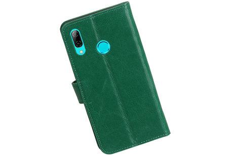 Zakelijke Bookstyle Hoesje voor Huawei Honor 10 Lite Groen