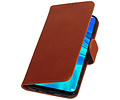 Zakelijke Bookstyle Hoesje voor Huawei Honor 10 Lite Bruin
