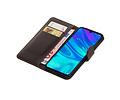 Zakelijke Bookstyle Hoesje voor Huawei Honor 10 Lite Mocca
