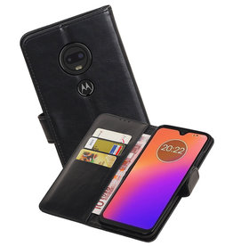 Zakelijke Bookstyle Hoesje Motorola Moto G7 Zwart