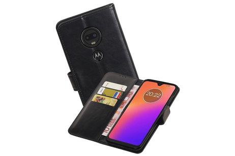 Zakelijke Bookstyle Hoesje voor Motorola Moto G7 Zwart