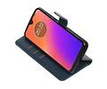Zakelijke Bookstyle Hoesje voor Motorola Moto G7 Blauw