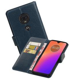 Zakelijke Bookstyle Hoesje Motorola Moto G7 Blauw