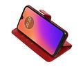 Zakelijke Bookstyle Hoesje voor Motorola Moto G7 Rood