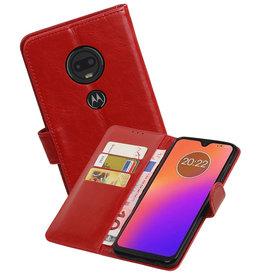 Zakelijke Bookstyle Hoesje Motorola Moto G7 Rood
