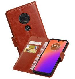 Zakelijke Bookstyle Hoesje Motorola Moto G7 Bruin