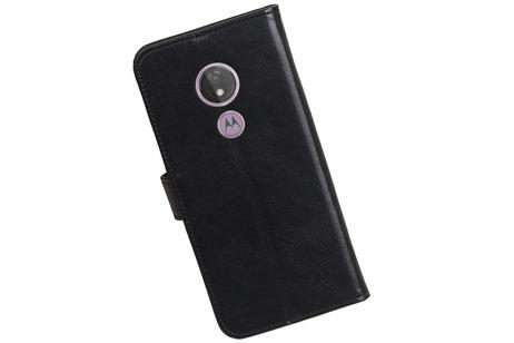 Zakelijke Bookstyle Hoesje voor Motorola Moto G7 Power Zwart
