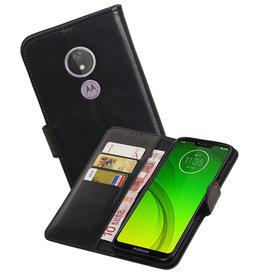 Zakelijke Bookstyle Hoesje Motorola Moto G7 Power Zwart