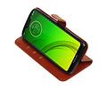 Zakelijke Bookstyle Hoesje voor Motorola Moto G7 Power Bruin