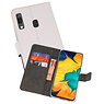 Wallet Cases Hoesje Samsung Galaxy A30 Wit