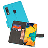 Wallet Cases Hoesje Samsung Galaxy A30 Blauw