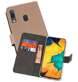 Wallet Cases Hoesje Samsung Galaxy A30 Goud