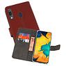 Wallet Cases Hoesje Samsung Galaxy A30 Bruin