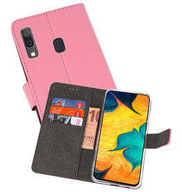 Wallet Cases Hoesje Samsung Galaxy A30 Roze