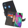 Wallet Cases Hoesje Samsung Galaxy A40 Zwart
