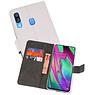Wallet Cases Hoesje Samsung Galaxy A40 Wit