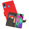 Wallet Cases Hoesje Samsung Galaxy A40 Rood