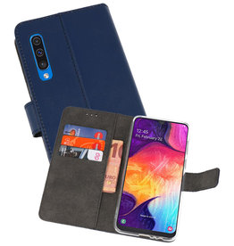 Wallet Cases Hoesje Samsung Galaxy A50 Navy