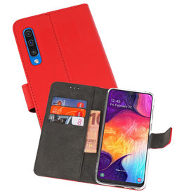 Wallet Cases Hoesje Samsung Galaxy A50 Rood