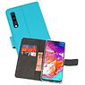 Wallet Cases Hoesje Samsung Galaxy A70 Blauw