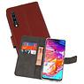 Wallet Cases Hoesje Samsung Galaxy A70 Bruin